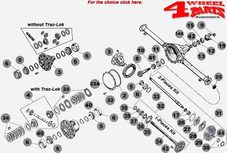 rear axle amc 20 year 76