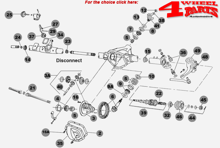 938678 Front And Rear Diff moreover Index Axles moreover Jeep Dana 44 Rear Axle Diagram On Cj7 as well HP PartList additionally HP PartList. on jeep front differential diagram