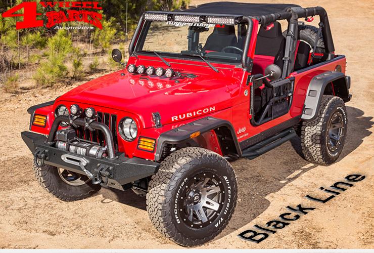 jeep wrangler tj zubeh r schwarz black line 4 wheel parts. Black Bedroom Furniture Sets. Home Design Ideas
