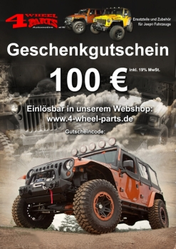 Jeep Geschenk Gutschein 100 Euro