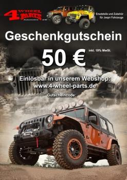 Jeep Geschenk Gutschein 50 Euro