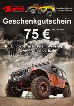 Jeep Geschenk Gutschein 75 Euro