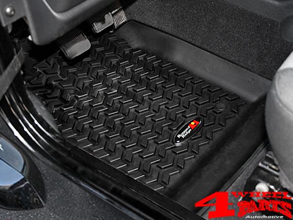 4 Wheel PartsFußmatten Fußraumwannen Paar vorne schwarz