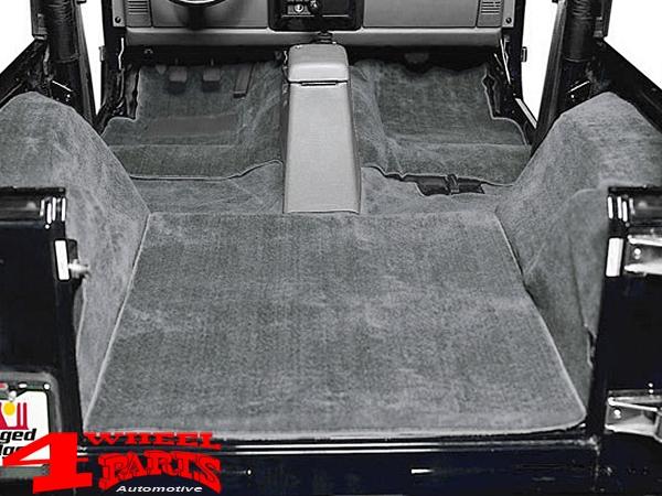 Teppich Teppichsatz komplett 6teilig anthrazit grau Jeep