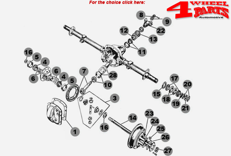 Rear Axle Dana 27 Willys MB + Ford GPW year 41-45