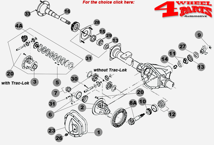 Hinterachse Dana 35 Jeep Grand Cherokee WJ + WG Bj. 99-04