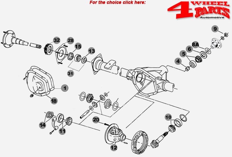 Rear Axle Dana 35/194 Jeep Wrangler JK year 2007