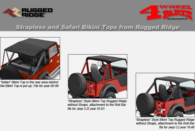 Rugged Ridge 13571.01 Black Summer Brief
