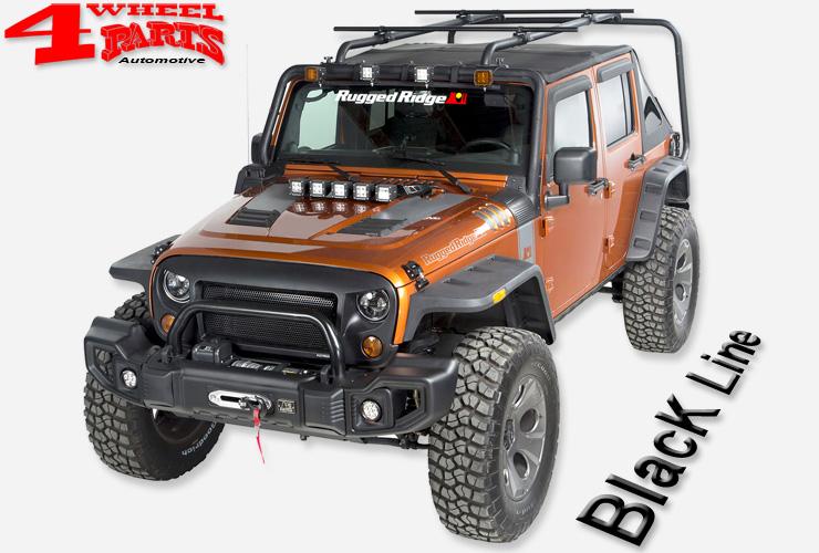 4 wheel parts jeep wrangler jk zubeh r schwarz black line. Black Bedroom Furniture Sets. Home Design Ideas