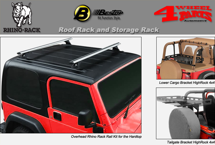 jeep wrangler tj overhead rack roof