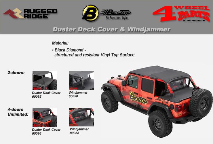 Jeep Wrangler JL Duster Deck Cover & Windjammer Bestop