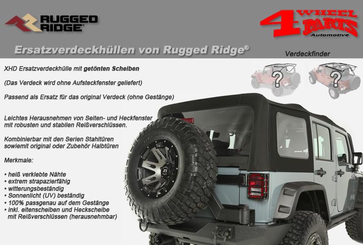 Jeep Wrangler JK Ersatzverdeckhüllen von Rugged Ridge
