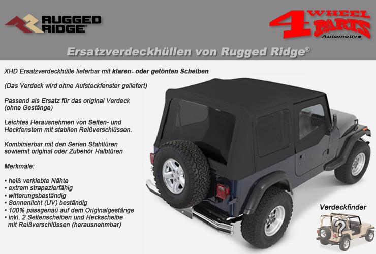 Jeep Wrangler YJ Ersatzverdeckhüllen von Rugged Ridge