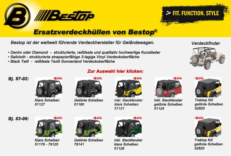 Jeep Wrangler TJ Ersatzverdeckhüllen Bestop
