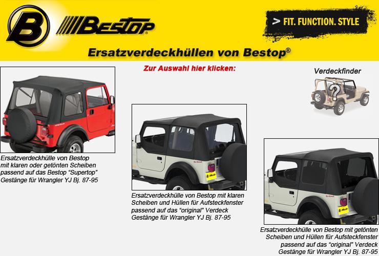 Jeep Wrangler YJ Ersatzverdeckhüllen von Bestop