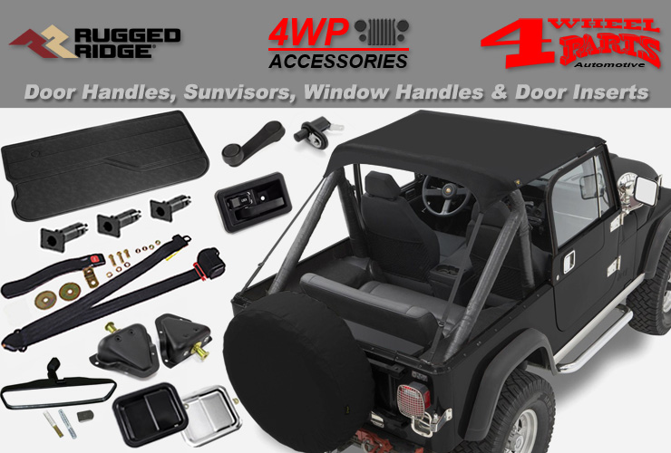 Replacement Sun Visor Spice Pair 87-95 Jeep Wrangler Yj  X 13312.37