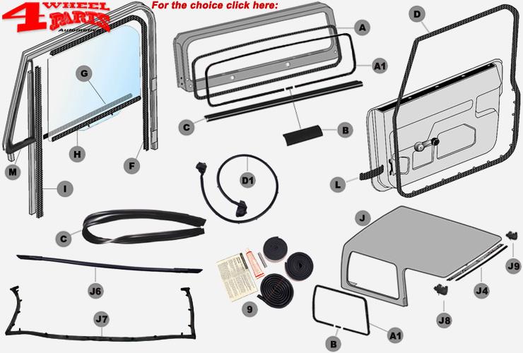 Jeep Wrangler YJ Body Seal & Weatherstrip
