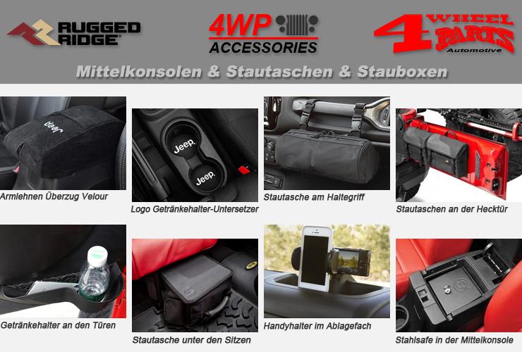 Sitzbezug vorne inkl 7 Taschen schwarz Sitzbezug Jeep Wrangler YJ 87-95