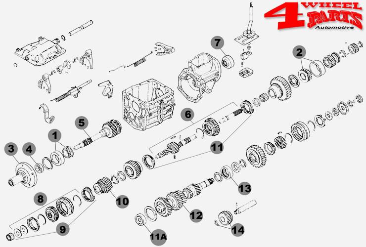 Simmering vorne Jeep CJ 76-86 Getriebe T-5