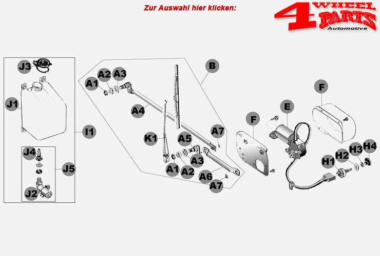 Wischer & Gestänge Jeep CJ Bj. 68-86