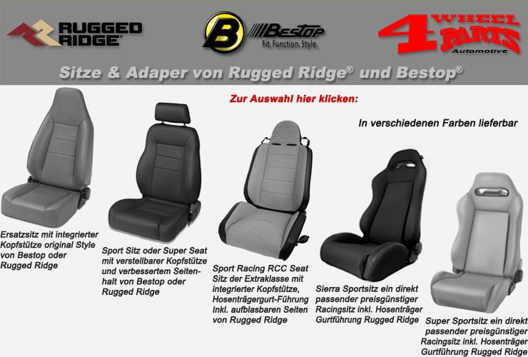 Jeep Wrangler TJ Sitze & Adapter & Sitzeinsteller