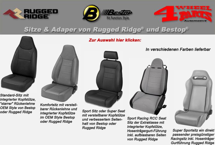 4 wheel parts jeep wrangler yj sitze adapter. Black Bedroom Furniture Sets. Home Design Ideas