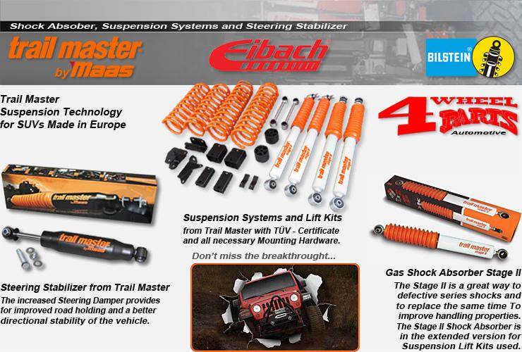 jeep wrangler jk unlimited 4 t rer suspension lift kit accessoires 4 wheel parts. Black Bedroom Furniture Sets. Home Design Ideas