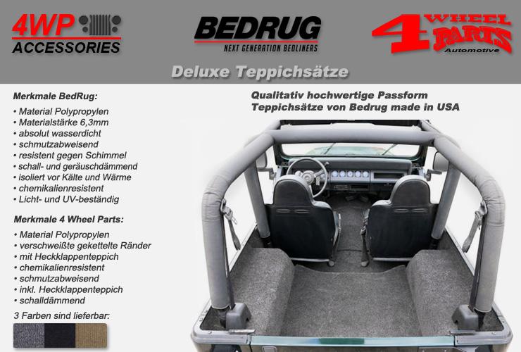Jeep Wrangler YJ Teppichsätze | 4 Wheel Parts