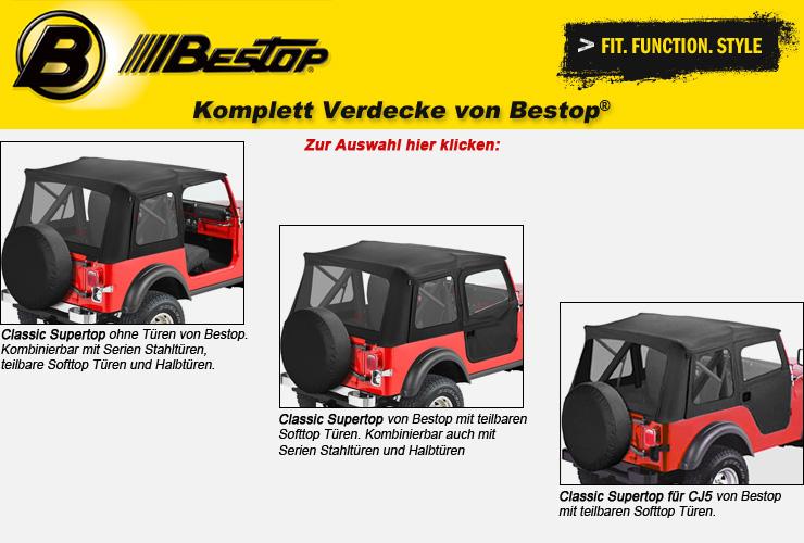 Jeep CJ Komplett Verdecke von Bestop