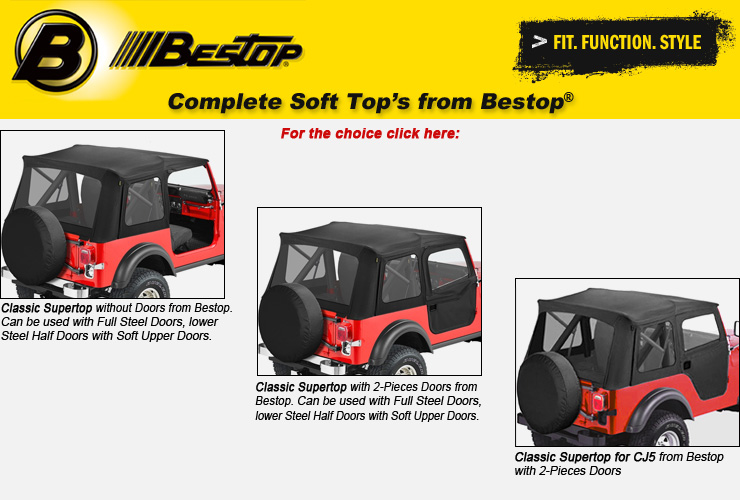 Jeep CJ Complete Soft Soft Tops from Bestop