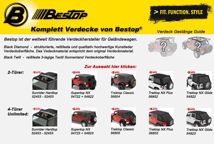 Jeep Wrangler JK Komplett Verdecke von Bestop