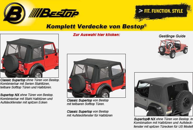 Jeep Wrangler YJ Komplett Verdecke von Bestop