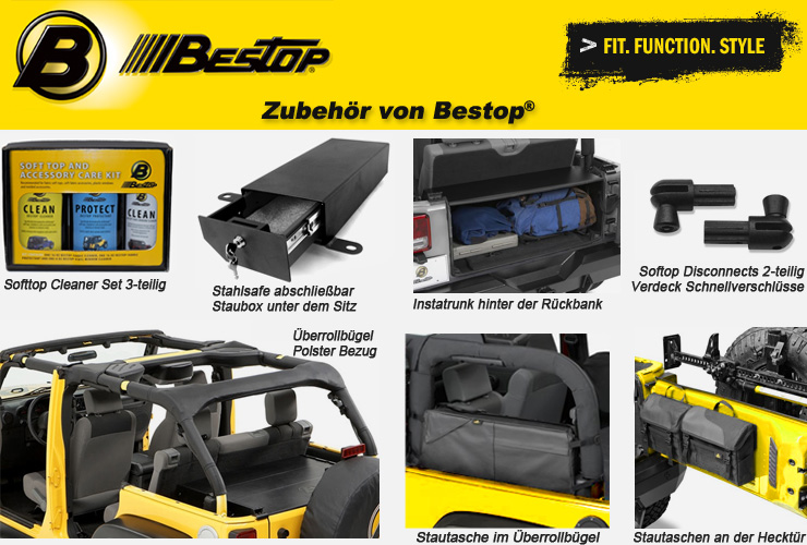 jeep wrangler jk zubeh r von bestop 4 wheel parts. Black Bedroom Furniture Sets. Home Design Ideas