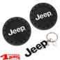Preview: Keychain Metal Enamel + Cup Holder Coaster with Jeep Logo