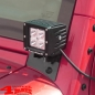 Preview: Windshield Light Brackets + 2 LED Lights Square Wrangler JK year 07-18