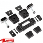 Preview: Hood Tie Down Kit Black Elite Jeep Wrangler TJ JK year 97-18