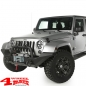 Preview: Hood Catch Set Aluminum textured adjustable Wrangler JK year 07-18