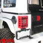 Preview: Tail Light Guards Pair Red Elite Wrangler JK year 07-18