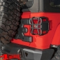 Preview: Tail Light Guards Pair Black Satin Elite Wrangler JL year 18-20