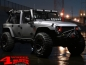 Preview: Light Bar Hood Mounted Satin Black + 5 LED's round JK year 07-18