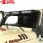 Preview: Light Bar Frame Hinges Mounted Black with Holder JK year 07-18