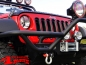Preview: Insert Grill Screen Gloss Black ABS Plastic Wrangler JK year 07-18