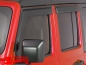 Preview: Rain Deflector Set 4 pce. Matte Black Wrangler JL year 18-19 4-doors