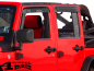 Preview: Rain Deflector Set 4 pce. Smoke Wrangler JK year 07-18 4-doors