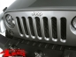 Preview: Insert Grill Screen Mesh Steel Gloss Black Wrangler JK year 07-15