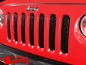 Preview: Insert Grill Screen Mesh 3D Steel Gloss Black Wrangler JK year 07-15