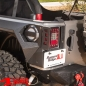 Preview: Gas Hatch Cover Brushed Aluminum Elite Wrangler JK year 07-18