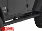 Preview: Side Tube Steps Ø 108mm oval textured Wrangler JK year 07-18 4-doors