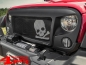 "Preview: Grille Overlay Insert Spartan ""Skull"" Jeep Wrangler JK year 07-18"