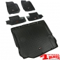 Preview: Floor Liner Set 3-pieces Black Wrangler JK year 11-18 2-doors